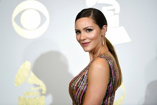 "(Photo by Chris Pizzello/Invision/AP, File). FILE - In this Feb. 12, 2017 file photo, singer and actress Katharine McPhee poses in the press room at the Grammy Awards in Los Angeles. McPhee, who stars in the CBS series, ""Scorpion,"" will appear in the h..."