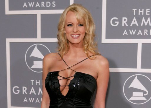 (AP Photo/Matt Sayles, File). FILE - In this Feb. 11, 2007, file photo, Stormy Daniels arrives for the 49th Annual Grammy Awards in Los Angeles. President Donald Trump's personal attorney says he paid $130,000 out of his own pocket to a porn actress wh...