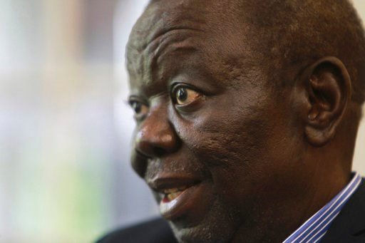 (AP Photo/Tsvangirayi Mukwazhi, File). FILE -- In this Nov. 30, 2016 file photo, Zimbabwe's main opposition leader Morgan Tsvangirai is photographed during an interview with the Associated Press in Harare. Zimbabwe opposition leader Morgan Tsvangirai h...