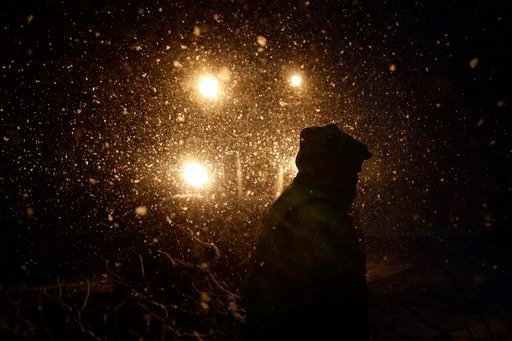 (AP Photo/Matt Slocum). Streets department worker James Ockimey clears a downed tree during a winter storm, Friday, March 2, 2018, in Marple Township, Pa. A nor'easter pounded the Atlantic Coast with hurricane-force winds and sideways rain and snow Fri...