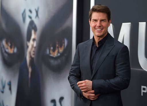 """(Photo by Evan Agostini/Invision/AP, File). FILE - In this Tuesday, June 6, 2017, file photo, Tom Cruise attends a special screening of """"The Mummy"""" at AMC Loews Lincoln Square in New York. Cruise's attempted reboot of the """"Mummy"""" franchise landed him t..."""