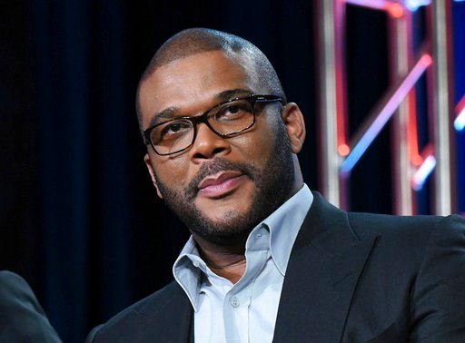 """(Photo by Richard Shotwell/Invision/AP, File). FILE - In this Jan. 15, 2016, file photo, Tyler Perry participates in a panel at the Fox Winter TCA in Pasadena, Calif. Perry took the 2017 Razzie Award for worst actress for """"Boo 2! A Madea Halloween,"""" th..."""