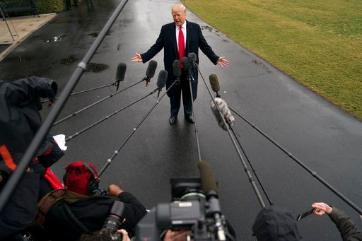 (AP Photo/Andrew Harnik, FILE). FILE - In this file photo dated Friday, Feb. 23, 2018, U.S. President Donald Trump speaks to reporters on the South Lawn of the White House in Washington. Trump has sidestepped numerous norms, including the tradition tha...