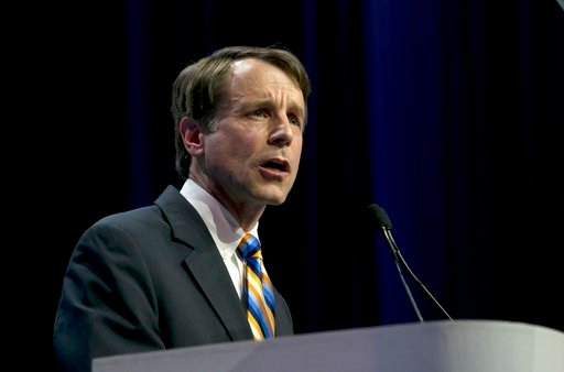 (AP Photo/Rich Pedroncelli, file). FILE - In this Saturday, May 20, 2017, file photo, California Insurance Commissioner Dave Jones speaks during the California Democratic Party Convention in Sacramento, Calif. Jones is challenging incumbent Democratic ...
