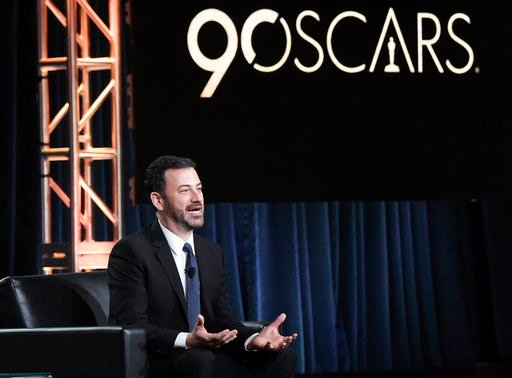 "(Foto Richard Shotwell/Invision/AP, archivo). ARCHIVO - Jimmy Kimmel participa en el panel ""Jimmy Kimmel Live and 90th Oscars"" durante la gira de prensa de Disney/ABC Television Critics Association Winter en Pasadena, California en una fotografía de ar..."