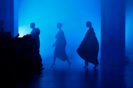 (AP Photo/Kamil Zihnioglu). ModelS wear creations for Poiret ready-to-wear fall/winter 2018/2019 fashion collection presented in Paris, Sunday, March 4, 2018.