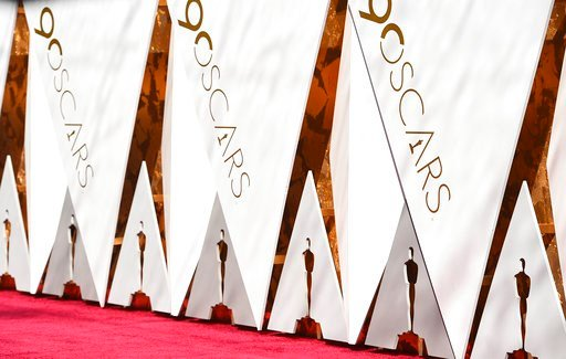 (Photo by Jordan Strauss/Invision/AP). View of the red carpet at the Oscars on Sunday, March 4, 2018, at the Dolby Theatre in Los Angeles.