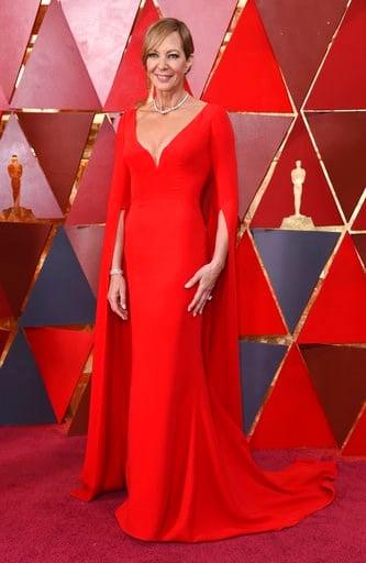 (Foto Richard Shotwell/Invision/AP). Allison Janney llega a los Oscar el domingo 4 de marzo de 2018 en el Teatro Dolby en Los Angeles.