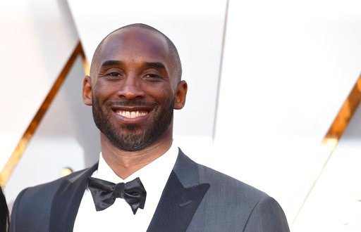 (Photo by Jordan Strauss/Invision/AP). Kobe Bryant arrives at the Oscars on Sunday, March 4, 2018, at the Dolby Theatre in Los Angeles.