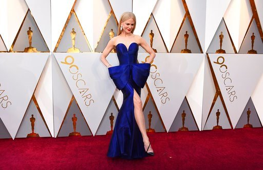 (Photo by Jordan Strauss/Invision/AP). Nicole Kidman arrives at the Oscars on Sunday, March 4, 2018, at the Dolby Theatre in Los Angeles.
