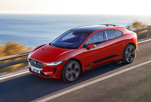 (Jaguar via AP). The undated image provided via the Jaguar Newsroom shows the Jaguar I-PACE electric vehicle which premiered on March 1, 2018. Global automakers are rolling out more production-ready electric vehicles at the Geneva International Motor S...