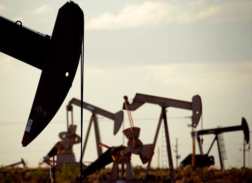 (AP Photo/Charlie Riedel, File). FILE - In this April 24, 2015 file photo, pumpjacks work in a field near Lovington, N.M. The boom in US oil production is expected to satisfy most of the world's growing appetite for oil through 2023, according to a new...