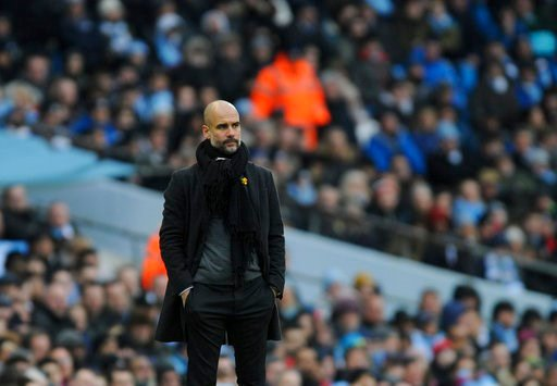 (AP Photo/Rui Vieira). Manchester City manager Josep Guardiola looks during the English Premier League soccer match between Manchester City and Chelsea at the Etihad Stadium in Manchester, England, Sunday, March 4, 2018.