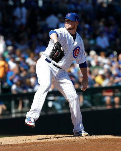 (AP Photo/Carlos Osorio). Chicago Cubs starting pitcher Jon Lester throws during the first inning of a spring training baseball game against the Chicago White Sox, Tuesday, Feb. 27, 2018, in Mesa, Ariz.
