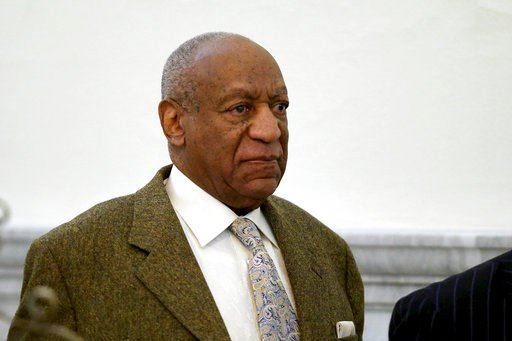 (David Maialetti/The Philadelphia Inquirer via AP, Pool). Actor and comedian Bill Cosby leaves the courtroom on a lunch break from a pretrial hearing at the Montgomery County Courthouse in Norristown, Pa., on Monday, March 5, 2018.