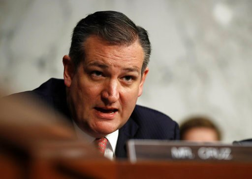 (AP Photo/Carolyn Kaster, File). FILE - In this Dec. 6, 2017, file photo, Sen. Ted Cruz, R-Texas, speaks during a Senate Judiciary Committee hearing on Capitol Hill in Washington. Texas Democrats have turned out in force ahead of their state's first-in...