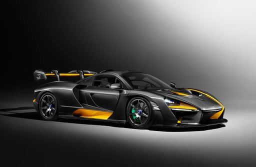 (McLaren via AP). The undated image provided in a press release by McLaren shows a McLaren Senna which will premiere at the Geneva Car show. The  800 horsepower turbocharged V8 engine car will be shown during press days of the Geneva International Moto...