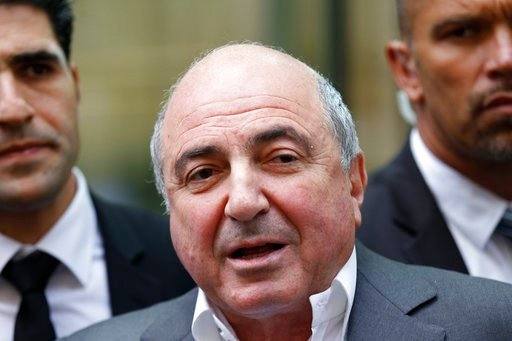 (AP Photo/Sang Tan, File). FILE - A Friday, Aug. 31, 2012 photo from files showing Russian tycoon Boris Berezovsky talking to the media after losing his case against Russian oligarch Roman Abramovich as he leaves the High Court in London. Russian oliga...