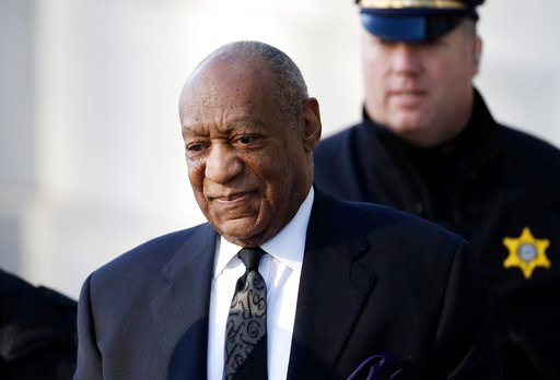 (AP Photo/Matt Slocum). Bill Cosby arrives for a pretrial hearing in his sexual assault case at the Montgomery County Courthouse, Tuesday, March 6, 2018, in Norristown, Pa.