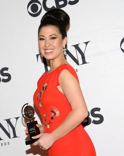 "(Photo by Evan Agostini/Invision/AP, File). FILE - In this June 7, 2015 file photo, Ruthie Ann Miles poses with the award for best performance by an actress in a featured role in a musical for ""The King & I"" in the press room at the 69th annual Ton..."