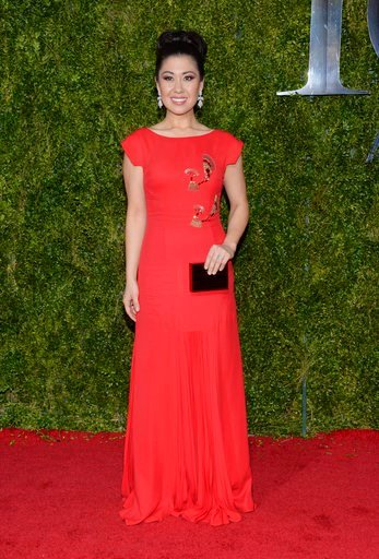 (Photo by Evan Agostini/Invision/AP, File). FILE - In this June 7, 2015 file photo, Ruthie Ann Miles arrives at the 69th annual Tony Awards in New York.  Miles was injured and her 4-year-old daughter Abigail was killed along with a 1-year-old when a dr...