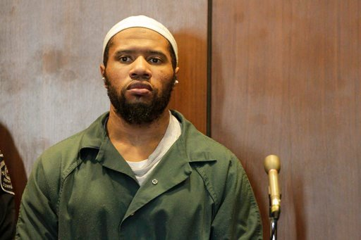 (Patti Sapone/NJ Advance Media via AP, Pool, File). File - In this Jan. 20, 2016, file photo, Ali Muhammad Brown, of Seattle, appears before New Jersey Superior Court Judge Ronald Wigler in Newark, N.J.  The prosecutor's office in Essex County, N.J., s...