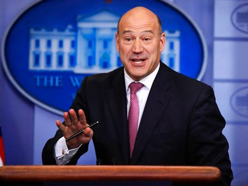 (AP Photo/Manuel Balce Ceneta, File). In this Jan. 23, 2018, file photo, White House chief economic adviser Gary Cohn, speaks to reporters during the daily press briefing in the Brady press briefing room at the White House, in Washington.