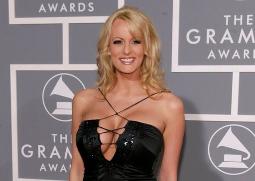 (AP Photo/Matt Sayles, File). FILE - In this Feb. 11, 2007, file photo, adult film actress Stormy Daniels arrives for the 49th Annual Grammy Awards in Los Angeles. Stormy Daniels, whose real name is Stephanie Clifford, is suing President Donald Trump a...