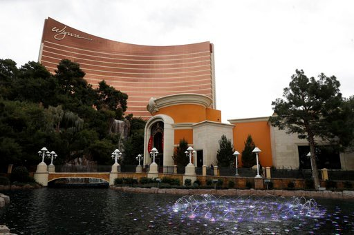 (AP Photo/Isaac Brekken, File). FILE- In this Feb. 19, 2018, file photo, Wynn Las Vegas is pictured in Las Vegas. The state of Oregon has sued Nevada gambling mogul Steve Wynn and the board of directors of Wynn Resorts Ltd. for allegedly failing to act...