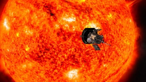 (NASA/Johns Hopkins APL/Steve Gribben via AP). This illustration from NASA shows Parker Solar Probe spacecraft approaching the sun. NASA is accepting online submissions until April 27, 2018, for sending your name on the spacecraft all the way to the sun.