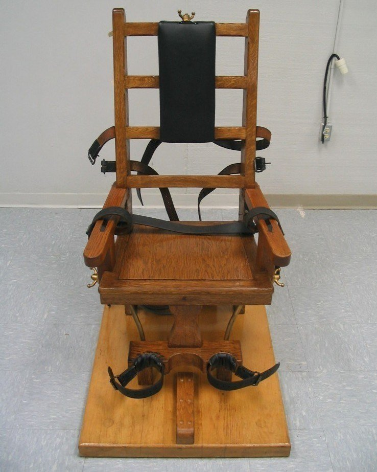 This file photo shows the electric chair at the Greensville Correction Center in Jarratt, Va. The South Carolina Senate voted Tuesday to use the electric chair instead of lethal injections. (Source: AP Photo/Virginia Department of Corrections, File)