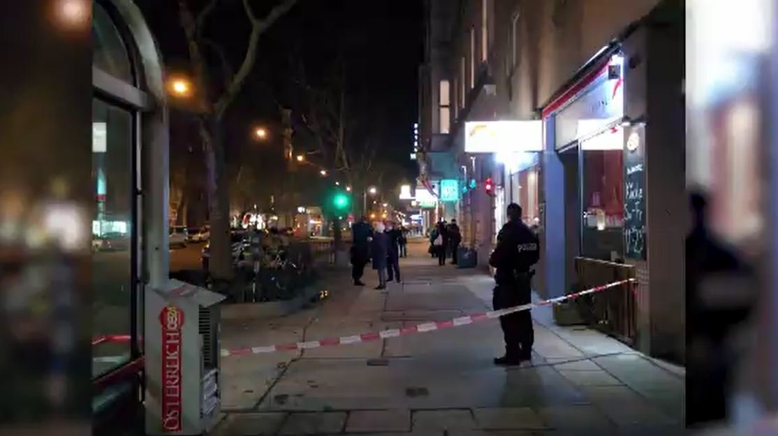 Vienna police said the attack happened at about 7:45 p.m. (1845 GMT; 1 p.m. EST) on Praterstrasse in the heart of Vienna. (Source: Haute / Clemens Oistric)