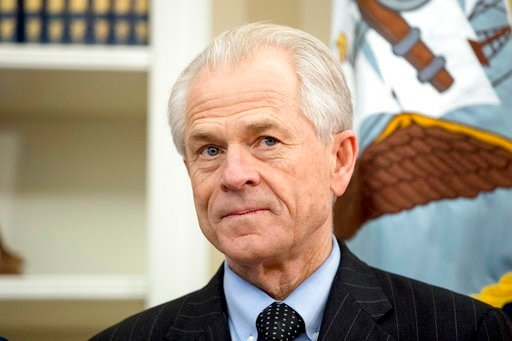 (AP Photo/Andrew Harnik, File). FILE - In this March 31, 2017, file photo, National Trade Council adviser Peter Navarro waits for President Donald Trump for an event in the Oval Office at the White House. Navarro signed on with the Trump campaign as a ...