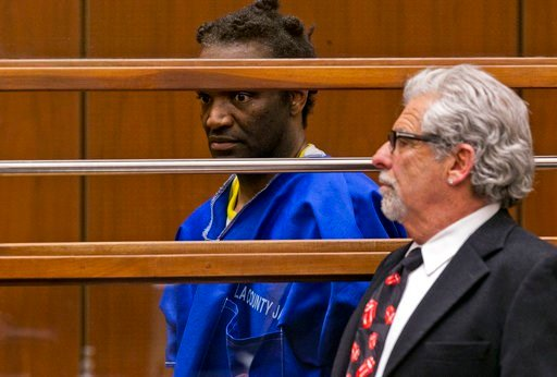 (AP Photo/Damian Dovarganes). Terry Bryant, left, appears with his attorney Daniel Brookman in Los Angeles Superior Court Wednesday, March 7, 2018. Bryant, who is charged with stealing Frances McDormand's best actress Oscar will be released on his own ...