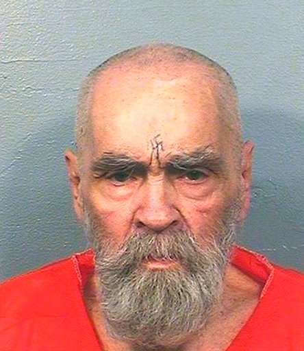 (California Department of Corrections and Rehabilitation via AP, File). This Aug. 14, 2017, file photo provided by the California Department of Corrections and Rehabilitation shows Charles Manson.