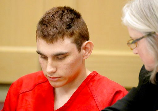 (Mike Stocker/South Florida Sun-Sentinel via AP, Pool, File). FILE - In this Feb. 19, 2018 file photo, Nikolas Cruz, accused of murdering 17 people in the Florida high school shooting, appears in court for a status hearing in Fort Lauderdale, Fla. Cruz...