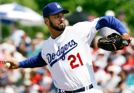 (AP Photo/Orlin Wagner, File). FILE - In this Friday, March 14, 2008, file photo, Los Angeles Dodgers starting pitcher Esteban Loaiza winds up during the first inning of a spring training baseball game in Vero Beach, Fla. Former All-Star pitcher Loaiza...