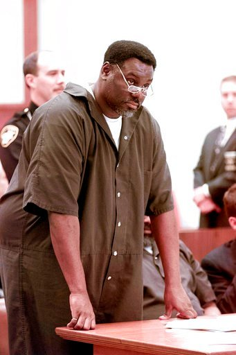 (Lori King/The Blade via AP). In this April 6, 2000 file photo, Nathaniel Cook stands during his sentencing at Lucas County Courthouse in Toledo, Ohio. Nathaniel Cook, one of two brothers who admitted killing a 12-year-old girl during a string of murde...