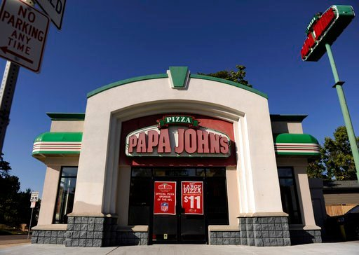 (Hyoung Chang/The Denver Post via AP). A Sept. 29, 2011, photo shows a Papa John's location in Denver. Peyton Manning sold his share in 31 Denver-area Papa John's stores last week, two days before the NFL dropped the chain as its official pizza sponsor...