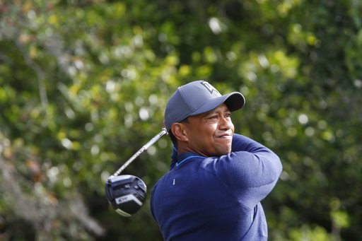 (Jim Damaske/Tampa Bay Times via AP). Tiger Woods tees off while playing the back nine at Innisbrook's Copperhead course during the pro-am at the Valspar Championship golf tournament, Wednesday, March 7, 2018, in Palm Harbor, Fla