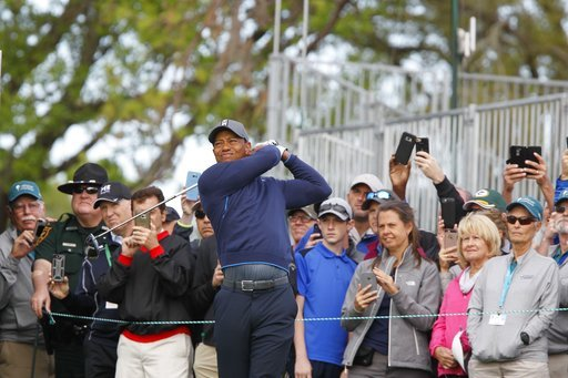 (Jim Damaske/Tampa Bay Times via AP). Tiger Woods tees off on the 10th hole at Innisbrook's Copperhead course during the pro-am at the Valspar Championship golf tournament, Wednesday, March 7, 2018, in Palm Harbor, Fla