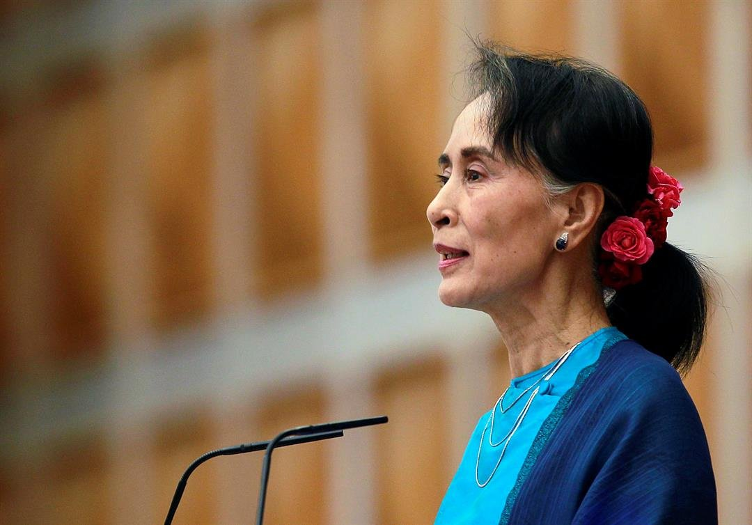 The United States Holocaust Museum is revoking a major human rights award given to Aung San Suu Kyi Myanmar's civilian leader. (Source: AP Photos)