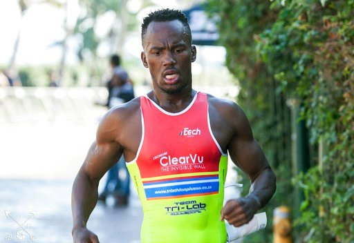 (B-Active Sports/Jethro Snyders via AP). In this photo taken June 21, 2015 and supplied by B-Active Sports, Mhlengi Gwala competes in an event in Durban, South Africa. Assailants attacked Gwala, a top athlete, Tuesday, March 6, 2018, while he was cycli...