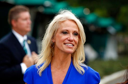 (AP Photo/Alex Brandon, File). FILE - In this July 27, 2017, file photo, Counselor to the President Kellyanne Conway walks back to the West Wing of the White House in Washington. A federal watchdog says Conway violated the federal law prohibiting gover...