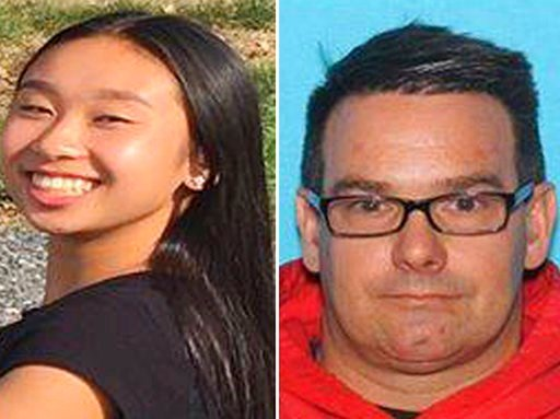 (Allentown Police Department via AP). This combination from photos provided by Allentown, Pa., Police Department shows from left, Amy Yu and Kevin Esterly.  Allentown police issued a missing person alert Wednesday, March 7, 2018 for  Esterly and Yu. Th...