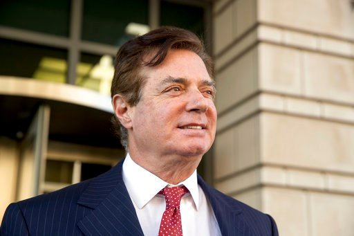 (AP Photo/Andrew Harnik, File). FILE - In this Thursday, Nov. 2, 2017, file photo, Paul Manafort, President Donald Trump's former campaign chairman, leaves Federal District Court, in Washington. Manafort is scheduled for arraignment on Friday, March 2,...