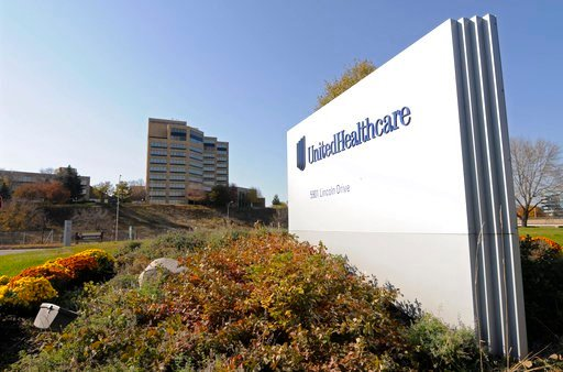 (AP Photo/Jim Mone, File). FILE - This Oct. 16, 2012, file photo, shows a portion of the UnitedHealth Group Inc.'s campus in Minnetonka, Minn. Insurers are dropping billions of dollars on acquisitions and expansions as they get more involved in their c...