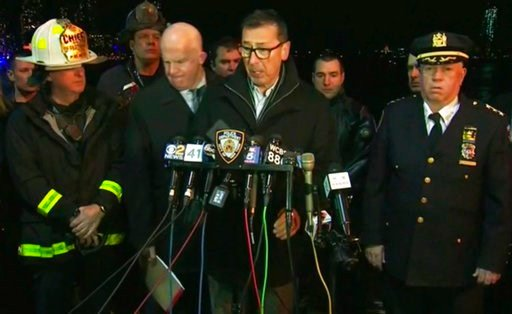 (WNYW via AP). In this image made from video provided by WNYW, New York City Fire Department Commissioner Daniel Nigro speaks during a press conference a deadly helicopter crash in New York on Sunday, March 11, 2018. A helicopter crashed into New York ...
