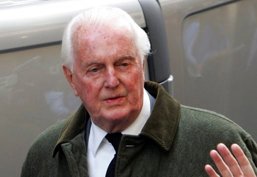 (AP Photo/Michael Sawyer, File). FILE - In this June 4 2007 file photo, French fashion designer Hubert de Givenchy leaves the Saint-Louis en l'Ile church in Paris. French couturier Hubert de Givenchy, a pioneer of ready-to-wear who designed Audrey Hepb...