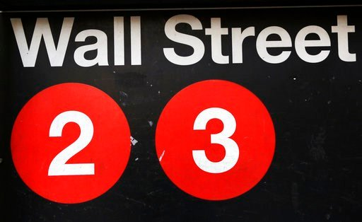 (AP Photo/Mark Lennihan, File). FILE - This Friday, Jan. 15, 2016, file photo shows a sign for a Wall Street subway station in New York. The U.S. stock market opens at 9:30 a.m. EST on Tuesday, March 13, 2018.